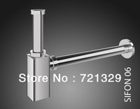 accessories drain pipe - Quality Brass Chrome P trap Drainer pipe Bathroom Accessories in chrome