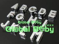 Wholesale 8MM mm Polish Slide A Z Letter Charm for DIY Pet Name DIY Dog Cat Pet Collar Slide letters alphabet