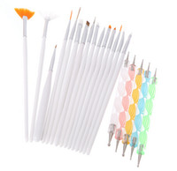Wholesale Professional Nail Brush Nail Art Design Painting Dotting Detailing Pen Brushes Bundle Tool Kit Set