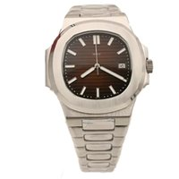 Wholesale NEW A Men s Watch High Quality Automatic Stainless Steel Men Nautilus transparent Back top man watches pp sky moon Coffee Dial