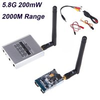 Wholesale 5 GHz mW FPV Wireless Aircraft Receiver Video Audio CH AV Transmitter TX RX KM M Range for RC Quadrotor