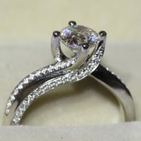lab created - Almost Test Positive Endless Beauty Lab Created Synthetic Diamond Solitare Engagement Wedding Ring For Women