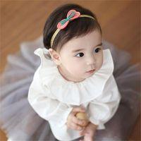 glitter ribbon - 2015 New Korean Style New Novelty Hairbands Bow Girls Headbands with Leather Ribbon Glitter Gold Band Princess Pink Hairband Bowknot Hotsale