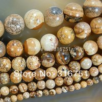 aa pictures - Hot Sale mm Natural Beautiful Picture Jasper Round Beads inch strand Pick Size f00103 Aa
