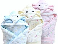 Wholesale 2015 Newest Inexpensive Worthy Elephant Baby Quilts Make Baby Comfortable and Warm in This Chilly Winter Blue Blonde Pink