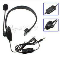 Cheap 3.5MM Jack Wired Black Gaming Headband Single Ear Earphone Headphone Headset With MIC Volume Control For Playstation 4 For PS4