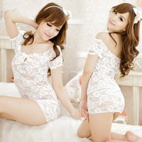 baby bubbles doll - Baby Doll Solid Spandex Direct Selling Promotion Plus Size Lingerie Lenceria Sexy Full Lace Bubble Sleeve Pajamas