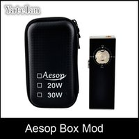 Wholesale Aesop Box Mod w Mechanical Mod Built in Battery W W Aluminum alloy Shell Produce huge vapor Various color VS Istick Cloupor Mod