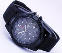 Precio de Gifts-Ejército Gemius Mens Ejército Relojes Racing Fuerza Deporte Militar Para ejército Hombres Tela Band Knight Guardar Deportes Lienzo Gemius Relojes de regalo