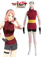 Wholesale Naruto movie The last Sakura Haruno Cheongsam Cosplay Costume Tailor Made