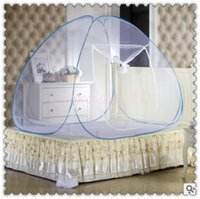 baby crib tent - 30pcs CCA3143 New Arrival Baby Kids Net Tent Toddler Bed Crib Canopy Pop Up Mosquito Net Netting Play Tent Playpen House Crib Netting Tent