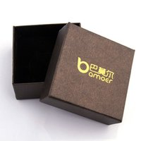 Wholesale Bamoer Brown Paper Gift Box for Necklace Bracelet Earrings Jewelry Packaging CM BZ0016