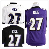 authentic ray rice jersey - Factory Outlet Exclusive High Discount Sales Ray Rice White Purple Black Men s Authentic Game Football Jerseys Size S XXXL Mix order
