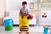 laundry bin - folding child animal laundry hamper the toy storage bin cartoon storage baskets picnic basket AT01