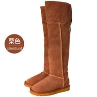 Wholesale New arrival fashion banquet super sweety princess genuine warm wool snow noble big size knee boots EU35
