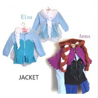 Wholesale Hot Sale Princess Frozen Girl Dresses Anna ELsa Coat winter cartoon Plush Outerwear Hoodie Outerwear Jackets Cute Winter Coat BO7057