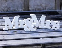 Wholesale Wooden Wedding Sign Photography Props Wedding DecorPersonalised Mr Mrs Custom Name MDF Wooden Standing Plaques Signs Wedding Supplies