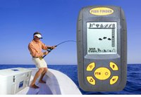 Wholesale 0 m m Portable Wireless Sonar Dot Matrix Fish Finder Fishfinder Sonar Radio Sea Contour River Lake Alarm Thermometer C F