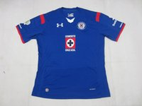 thailand football jerseys - 2014 Cruz Azul de Mexico home jersey football shirt top quality embroidery logo thailand Soccer Uniform customize name number mix order