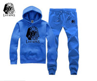 100 cotton hoody - Winter men s cotton thick solid hoody jogging suits brand last kings