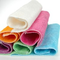 Wholesale 12 cm efficient ANTI GREASY dish cloth bamboo fiber washing dish cloth magic multi function wipping Fast Shipping