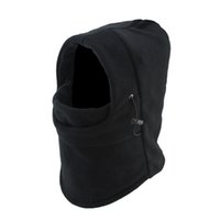 Wholesale Double Layer Balaclava Fleece Hat Outdoor Cycling Motorcycle Windproof Helmet Mask For Man Winter Cap hb328