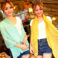 Wholesale 2016 Spring Long Chiffon Scarves Sexy Fashion shawl Accessories for Women Print Little Feather Scarf Gift Cheap Fast Delivery High Quality