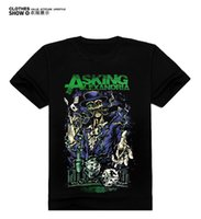 ask men style - New Summer Style Cotton t shirt Asking Alexandria tee dubstep nightbar Rock t shirts hiphop Sport Short t shirts