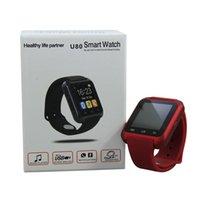 anti lost - Smart Watch U80 Smartwatch Bluetooth Wrist Watch Pedometer Anti Lost Reminding U Watch For iphone plus IOS Samsung HTC Android Phone
