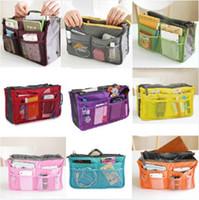 handbag organizer - New Sale Make up organizer bag Women Men Casual travel bag multi functional Cosmetic Bag storage bag in bag Handbag Colors
