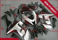 achat en gros de carénages zx6r matte-Vin rouge blanc et noir mat fabriqué en plastique moulage par injection carénage Kawasaki ZX6R 2007 - 2008 37