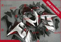 al por mayor carenados zx6r mate-Vino rojo blanco y negro mate pintado a medida carcasa de inyección de plástico moldeado Kawasaki ZX6R 2007 - 2008 37