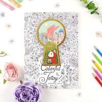 Wholesale Cute Jetoy Kitty Choo Choo Coloring Book EQ development for Kids Anti Stress