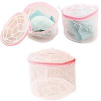 Wholesale Kimisohand New Hot Fashion New Lingerie Underwear Bra Sock Laundry Washing Aid Net Mesh Zip Bag Rose Wholesale
