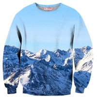 alps mountains - Newest harajuku style sweatshirts women men funny Alps mountains d sweatshirt casual tops pullovers outerwear