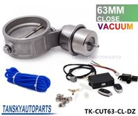 Wholesale Tansky Exhaust Control Valve Set With Vacuum Actuator CUTOUT quot mm Pipe CLOSE STYLE with Wireless Remote Controller TK CUT63 CL DZ