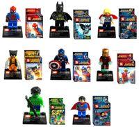Wholesale Super Hero Avengers Alliance Minifigure As Follow Superman Batman Iron Man Captain America Hand Do Parent child Toy Heat In