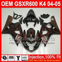 gsxr 600 fairing - Black k4 gifts Injection For SUZUKI GSXR600 GSXR Orange flames L338 GSX R600 K4 GSXR GSX R600 Fairings Kit