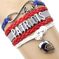 american patriots - Infinity Love New PATRIOTS Football Team Bracelet Customize Sports charms wristband handmade great quality custom any themes