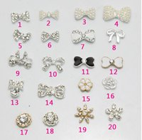 Wholesale Nail Art Rhinestone Nail Tips Dangle Jewelry Nail Art Decoration d Nail Bows Imperial crown crystal Metal jewelry so many style can choice