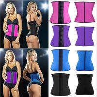 Wholesale Women Latex Rubber Waist Training Cincher Waist Training Belt Kim Waist Training Belt Underbust Corset Body Shaper Shapewear plus XS XL