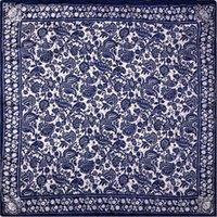 bandana paper - Guarantee Silk Scarf Women Scarf Paper Cutting Art Medium Square Silk Scarf cm Female Middle Bandana Luxury Gift