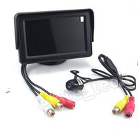 Wholesale 4 quot TFT Color Car Back Up Reverse Camera Full Kit With Parking Scale Waterproof new A3