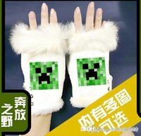 Wholesale Kids Mitten Boys minecraft Glove Children minecraft Gloves Girls minecraft Gloves Winter Mittens Knitted minecrafGloves Fingerless Gloves