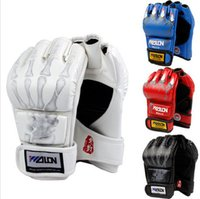 Wholesale Hot Sale Half Finger Boxing Gloves Kung Fu Fighting Martial Arts Gloves Made of High Quality PU leather