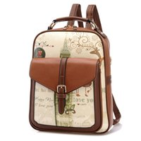 Wholesale 2016 Women Leather Backpacks Print School Bags For Teenagers Girls Laptop Backpacks Waterproof Travel Bagpack Mochila Feminina