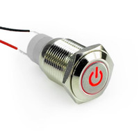 angels dvd - 16mm V Car Angel Eye Red Led Lighted Silver Metal Stainless Steel Switch Latching Push Button