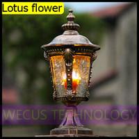 Al por mayor (WECUS) envío libre, poste de la lámpara al aire libre, lámpara de pared Courtyard Villa, serie europea, sin fuente de luz, XJ-HWD0036