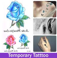 big rose tattoos - Large big Peony Flower Designs Temporary Tattoos Stickers Waterproof Body Gouache Paint Rose Fake Tatoo for Women Body Tats