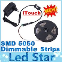 switch - 2015 New Arrival Dimmable Led Strips SMD M Leds Waterproof iTouch Touch Switch DC V V A Power Supply With AU UK US EU Plug